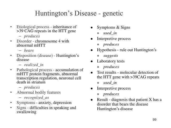 Huntington's Disease - genetic