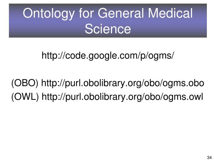 Ontology for General Medical Science
