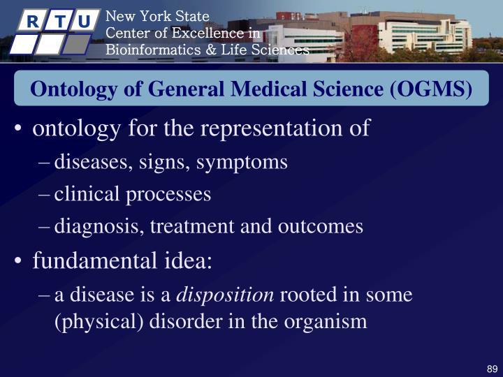 Ontology of General Medical Science (OGMS)