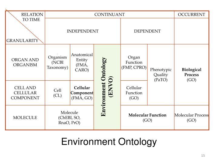Environment Ontology (ENVO)