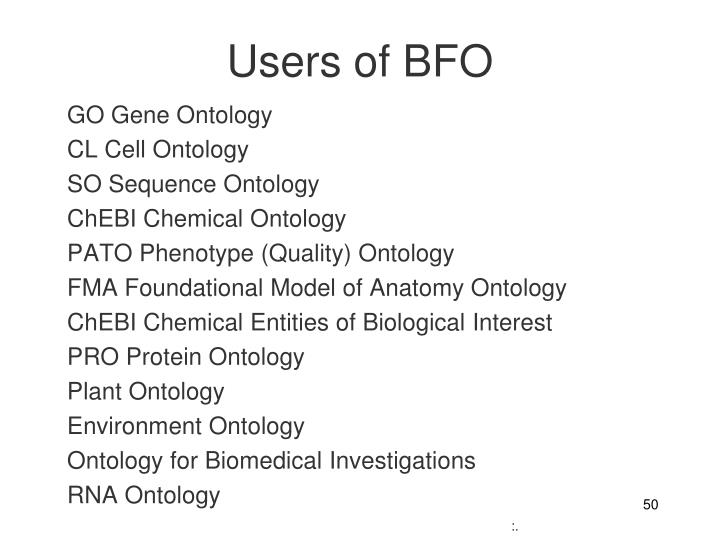 Users of BFO