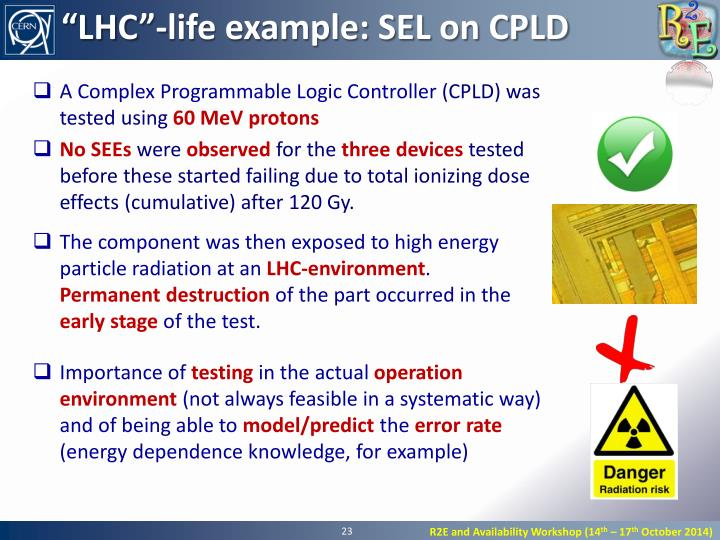 """LHC""-life example: SEL on CPLD"