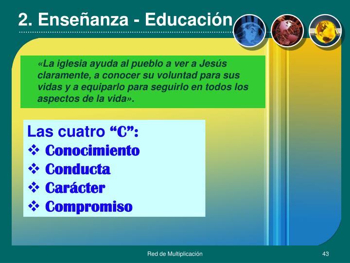 2. Enseñanza - Educación