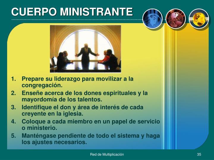 CUERPO MINISTRANTE