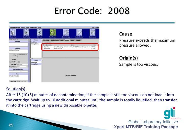 Error Code:  2008