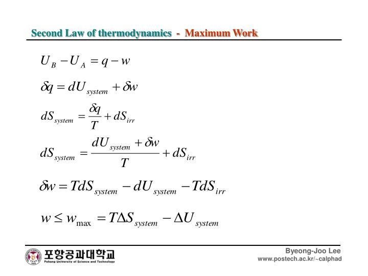 Second Law of thermodynamics