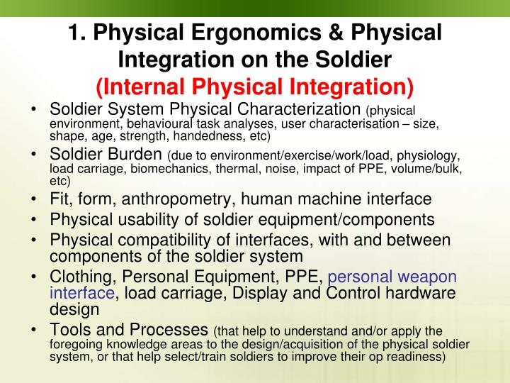 Soldier System Physical Characterization
