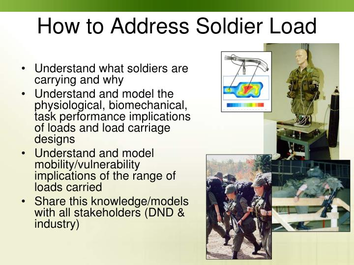 How to Address Soldier Load