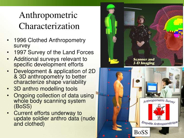 1996 Clothed Anthropometry survey