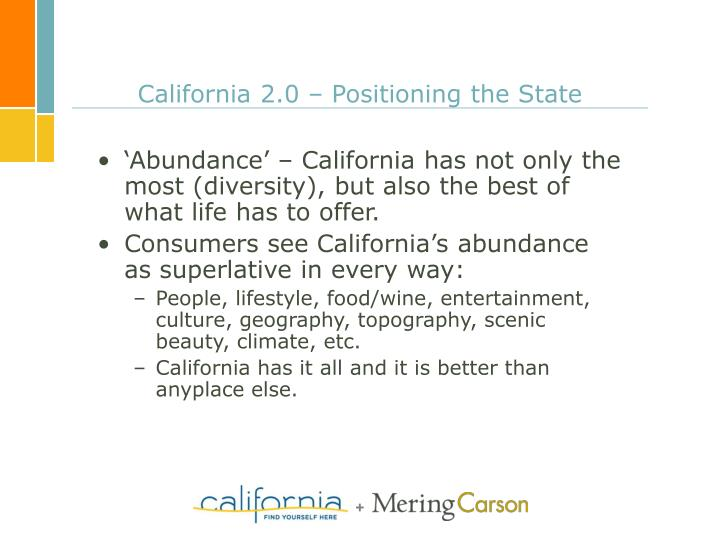 California 2.0 – Positioning the State