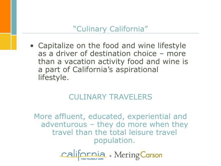 """Culinary California"""