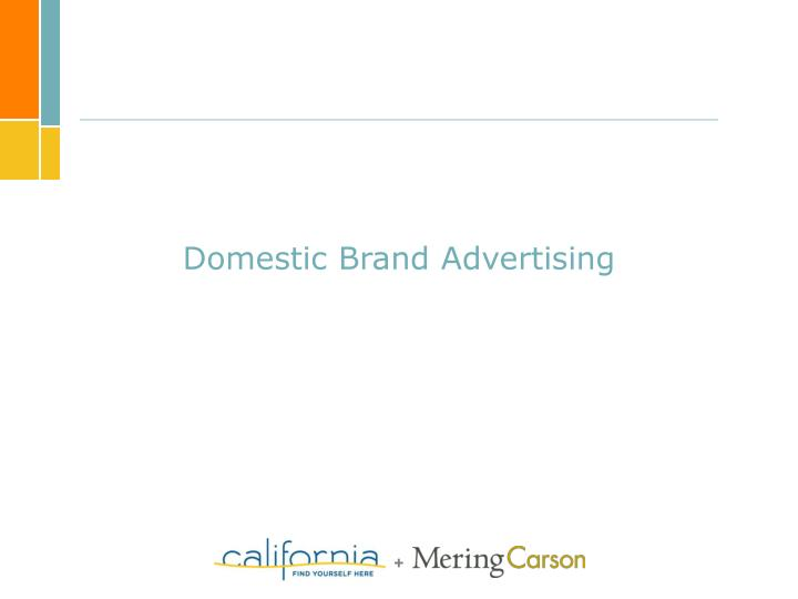 Domestic Brand Advertising