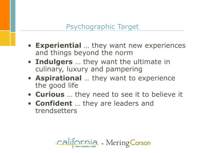 Psychographic Target