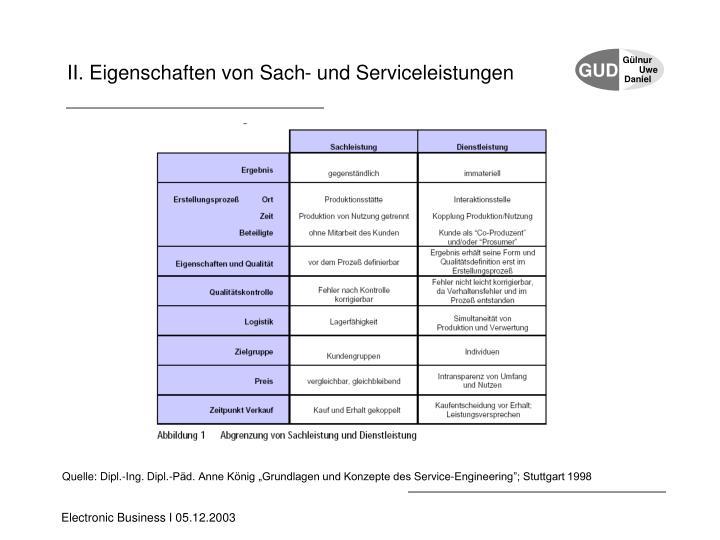 II. Eigenschaften von Sach- und Serviceleistungen