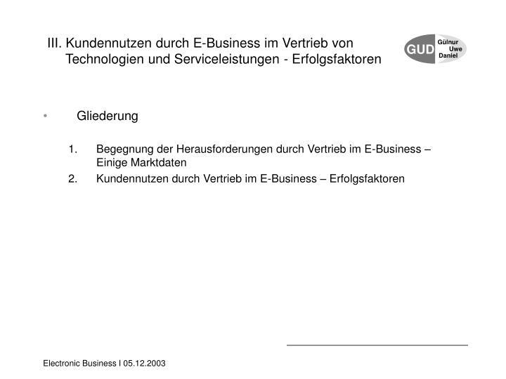 III. Kundennutzen durch E-Business im Vertrieb von