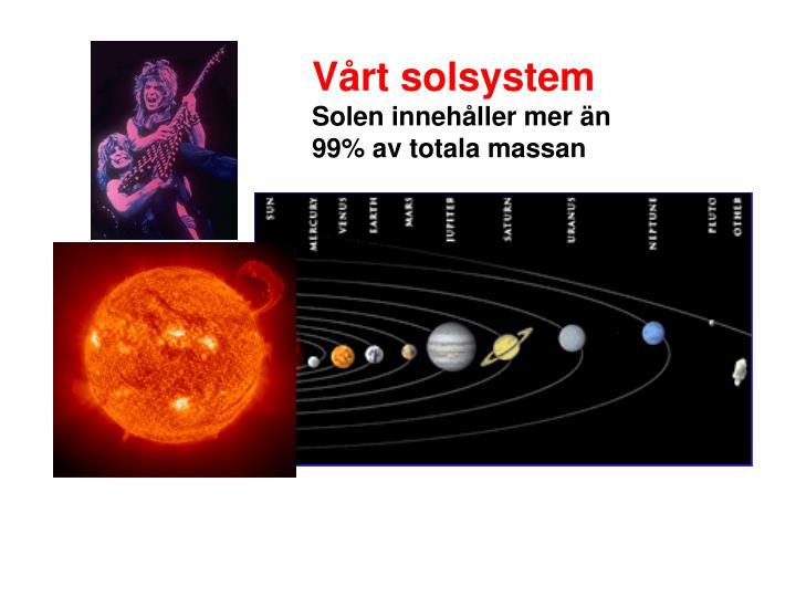 Vårt solsystem