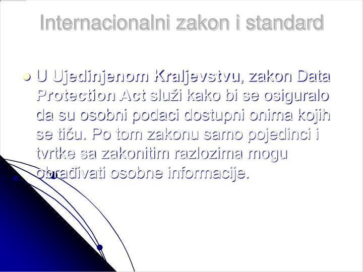 Internacionalni zakon i standard