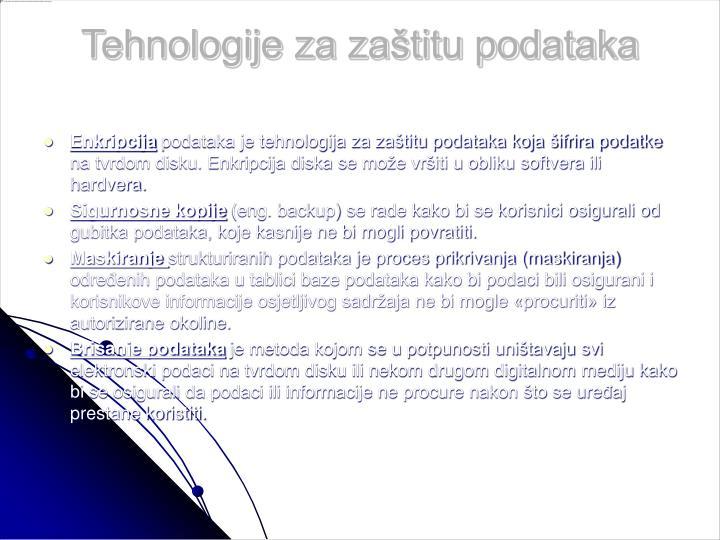 Tehnologije za zaštitu podataka