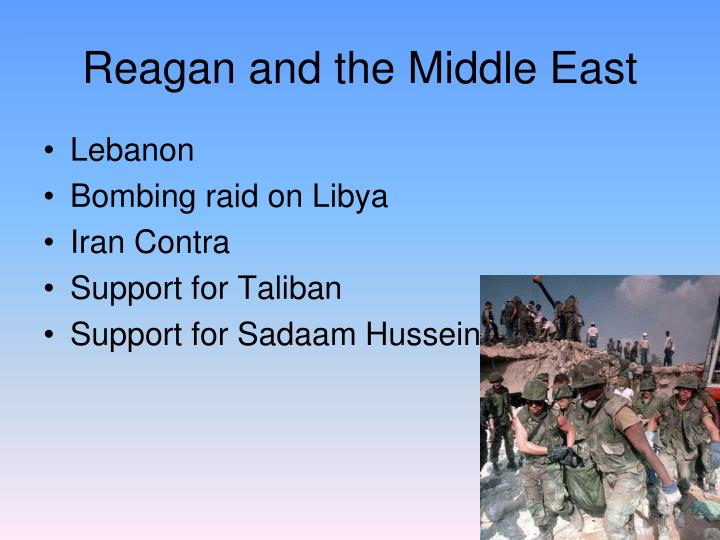 reagan middle eastern singles Ronald reagan's benghazi  making it the single deadliest attack on american marines since the  including the agency's top analyst in the middle east,.