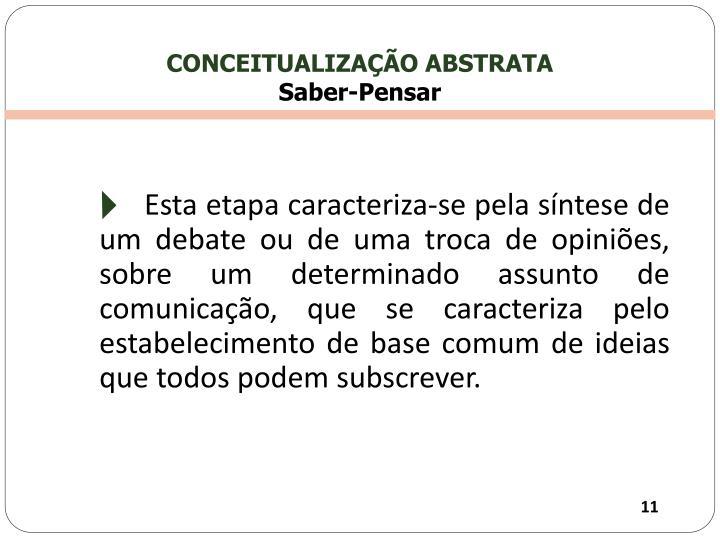 CONCEITUALIZAÇÃO ABSTRATA