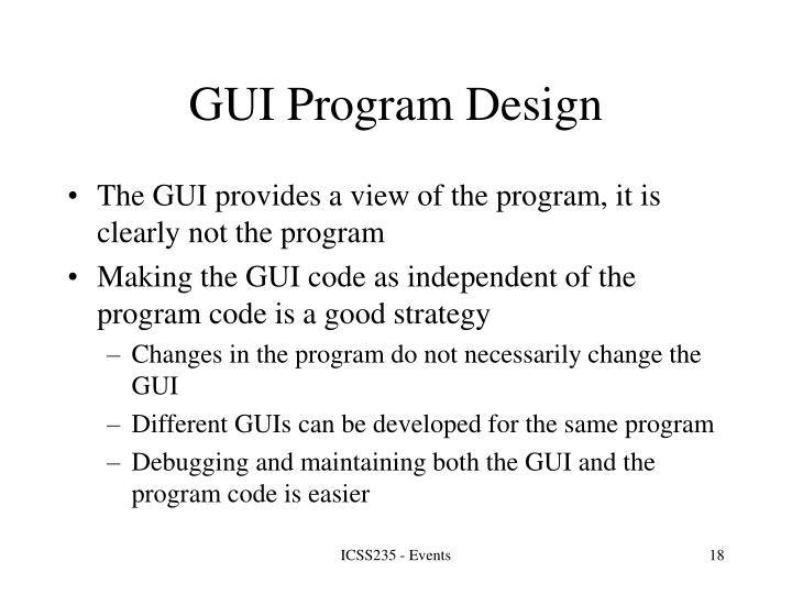 GUI Program Design