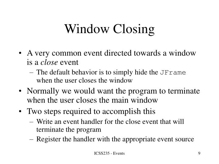 Window Closing