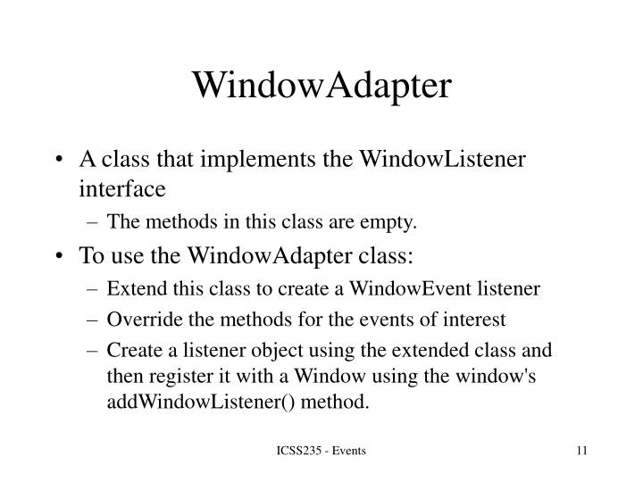 WindowAdapter