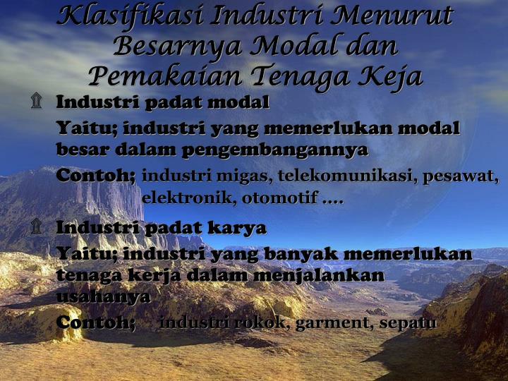 Klasifikasi Industri Menurut