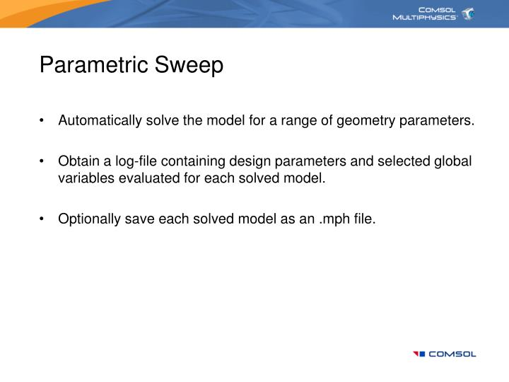 Parametric Sweep
