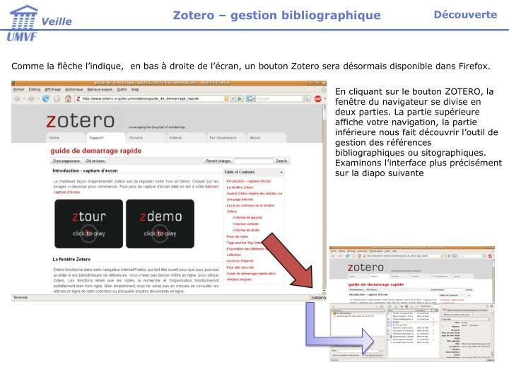 Zotero – gestion bibliographique