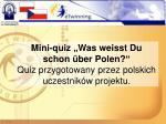 mini quiz was weisst du schon ber polen quiz przygotowany przez polskich uczestnik w projektu