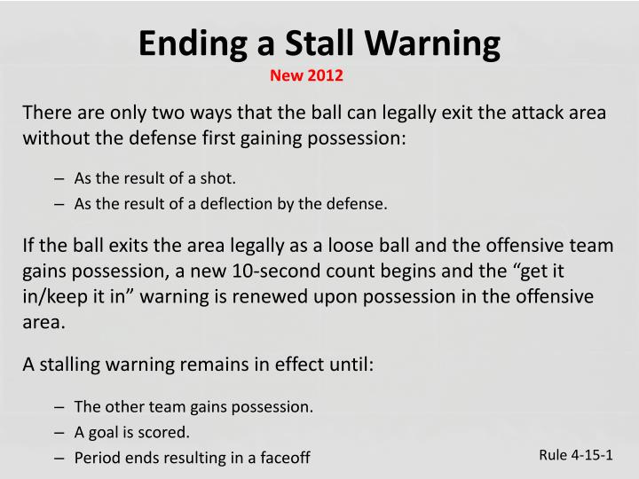 Ending a Stall Warning