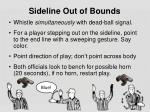 sideline o ut of bounds