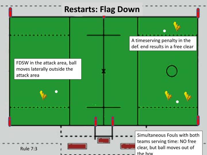 Restarts: Flag Down