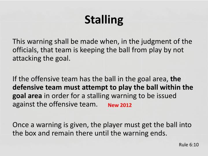Stalling