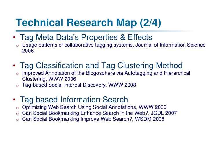 Technical Research Map (2/4)