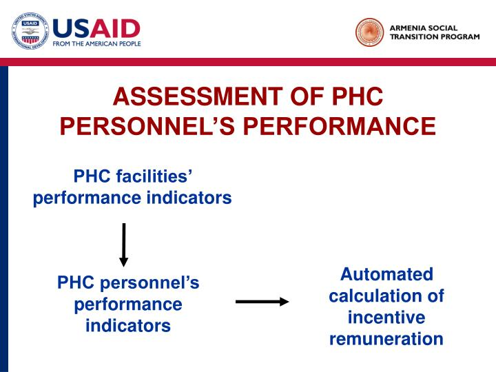 ASSESSMENT OF PHC PERSONNEL'S PERFORMANCE