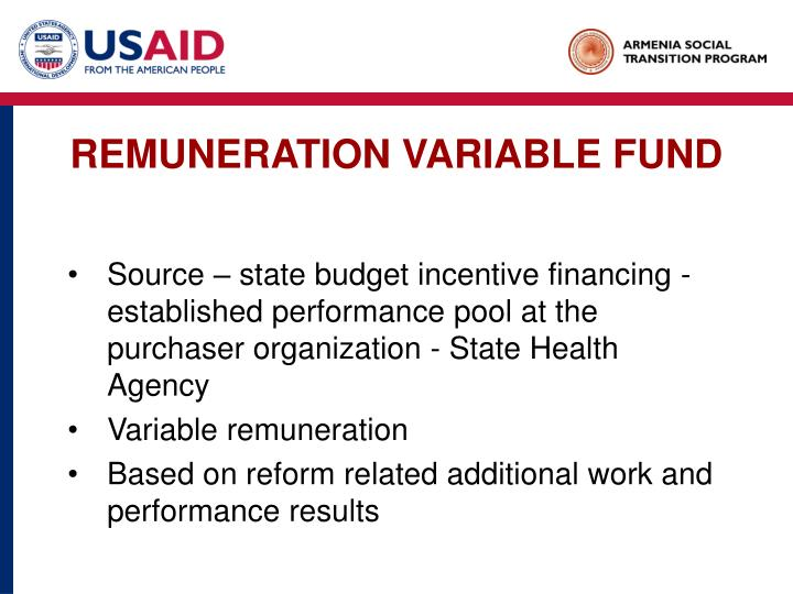 REMUNERATION VARIABLE FUND