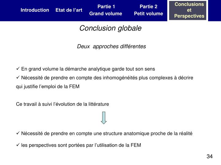 Conclusion globale