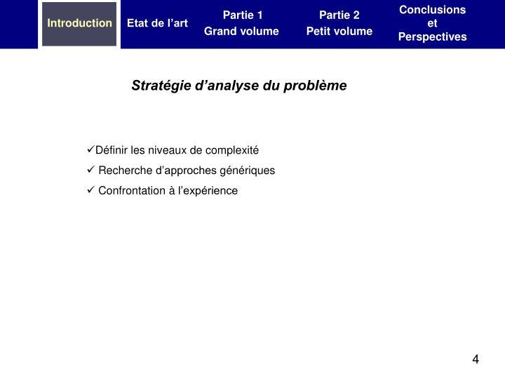 Stratégie d'analyse du problème