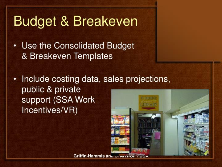Budget & Breakeven