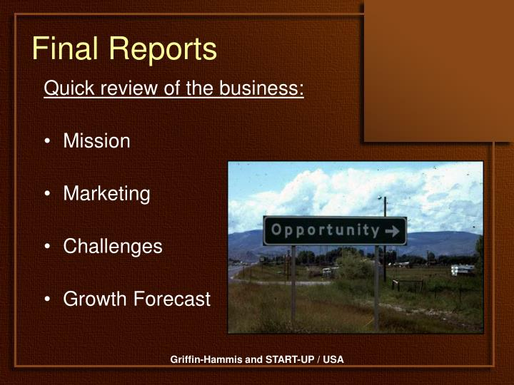 Final Reports
