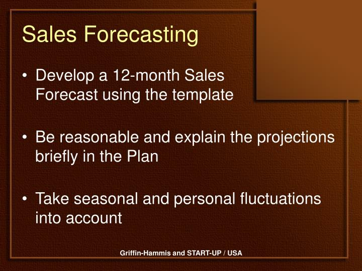 Sales Forecasting