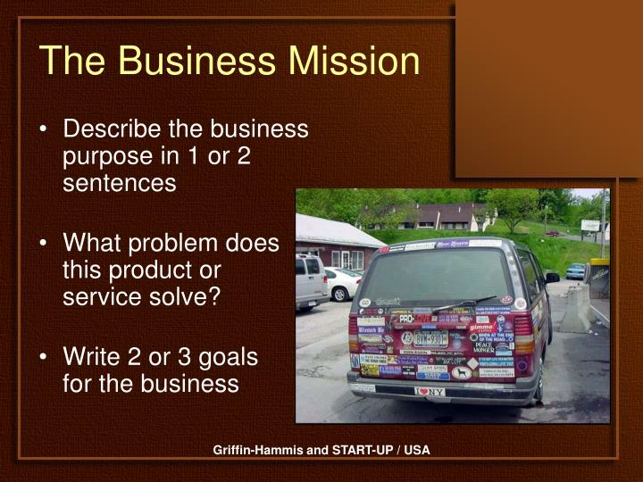 The Business Mission