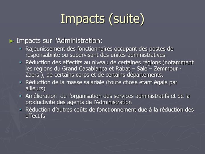 Impacts (suite)