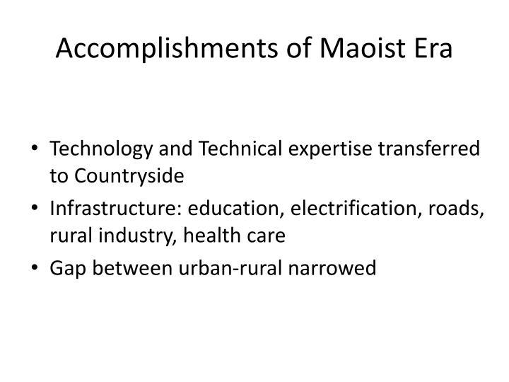Accomplishments of Maoist Era