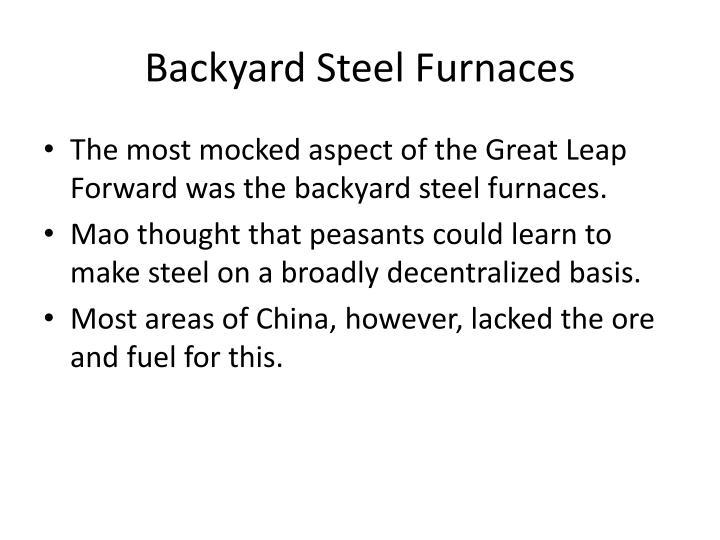 Backyard Steel Furnaces