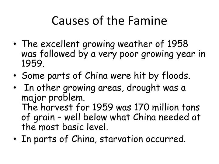 Causes of the Famine