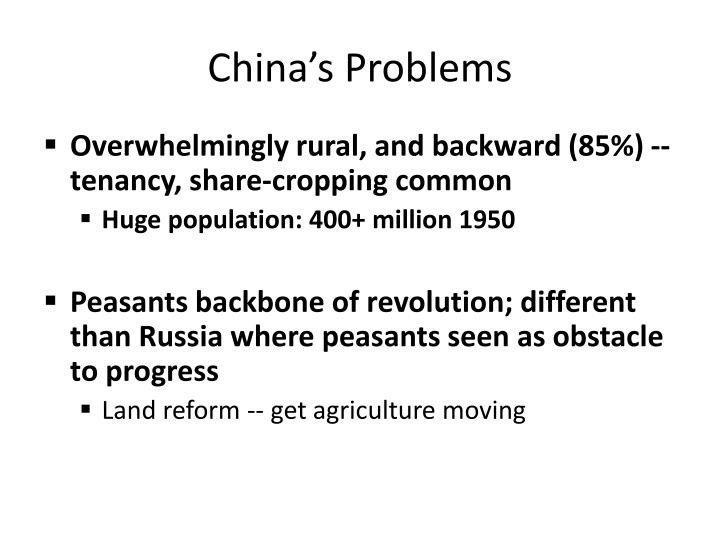 China's Problems