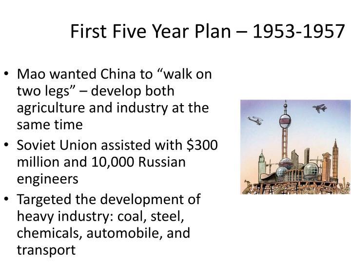 First Five Year Plan – 1953-1957